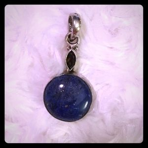 Jewelry - Artisan-made Amethyst and Lapis Pendant